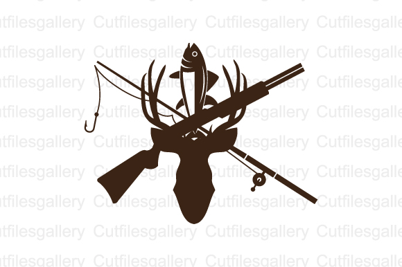 Download Free Hunting And Fishing Svg Graphic By Cutfilesgallery Creative for Cricut Explore, Silhouette and other cutting machines.