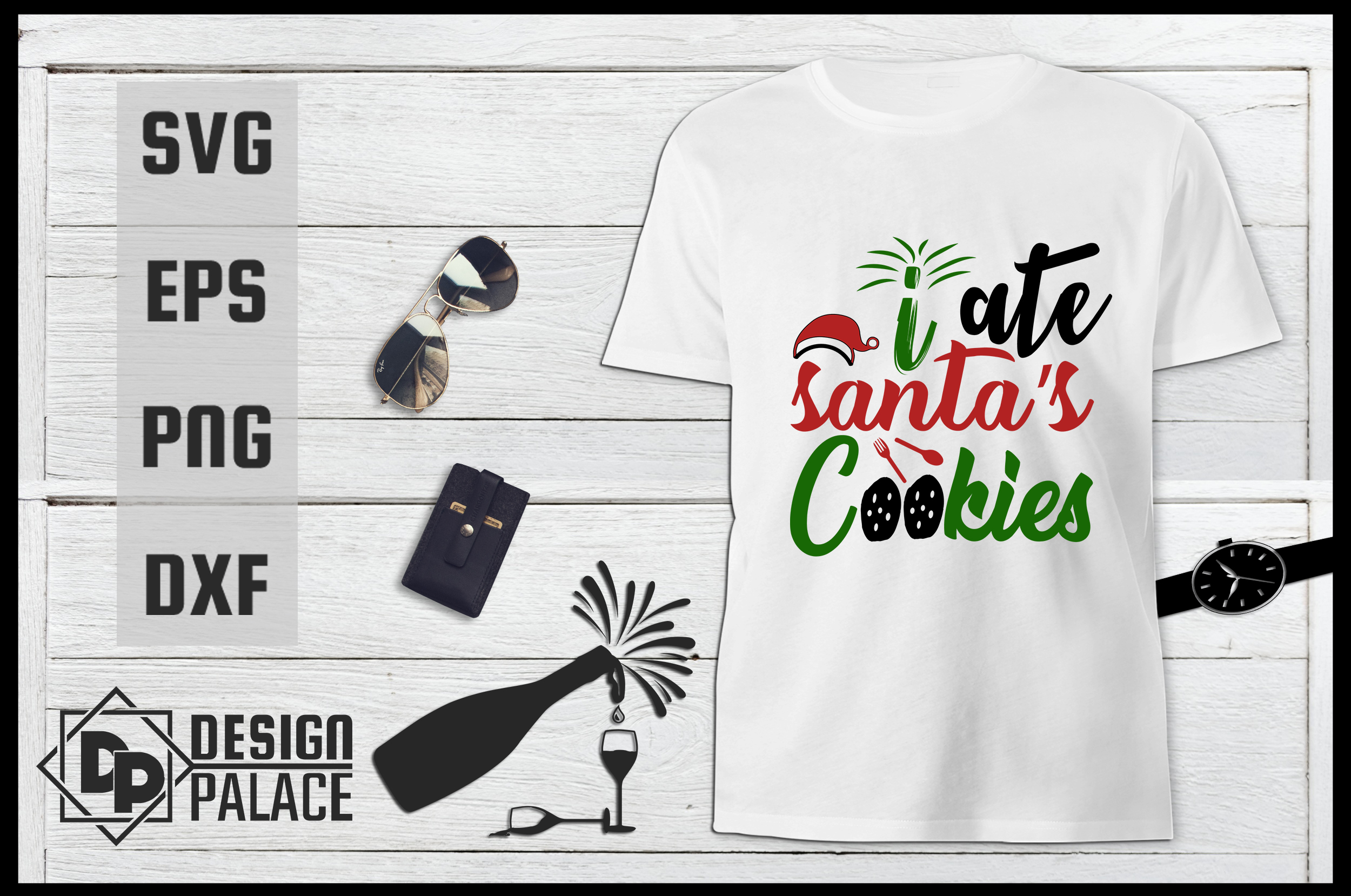 Download Free I Ate Santa S Cookies Svg Graphic By Design Palace Creative for Cricut Explore, Silhouette and other cutting machines.