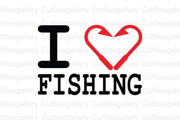 Download Free I Love Fishing Svg Grafico Por Cutfilesgallery Creative Fabrica for Cricut Explore, Silhouette and other cutting machines.