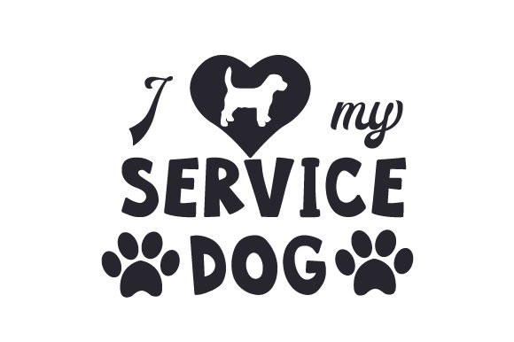 Download Free I Love My Service Dog Svg Cut File By Creative Fabrica Crafts for Cricut Explore, Silhouette and other cutting machines.