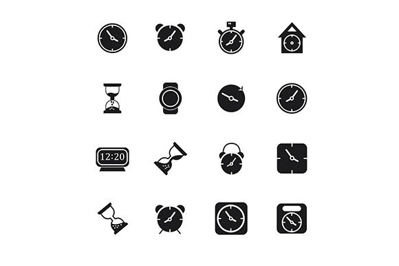 Icon Clock Vector Graphic Icons By rohmar - Image 2