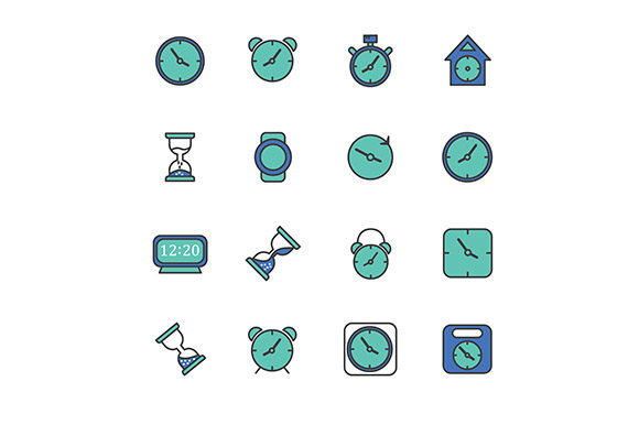 Icon Clock Vector Graphic Icons By rohmar - Image 4