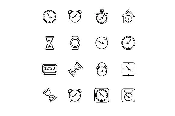 Icon Clock Vector Graphic Icons By rohmar