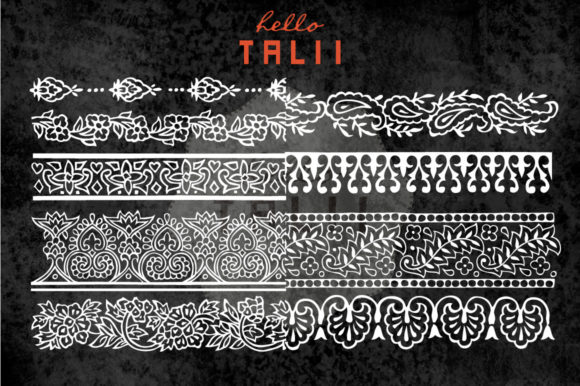 Download Free Indian Style Borders Clip Art Ps Brushes Graphic By Hello for Cricut Explore, Silhouette and other cutting machines.