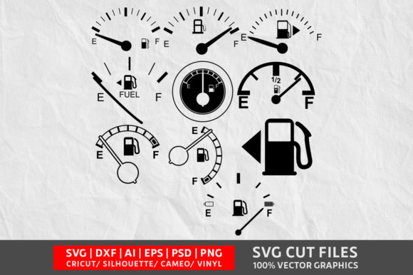Download Free Indicator Gas Tank Svg Graphic By Design Palace Creative Fabrica for Cricut Explore, Silhouette and other cutting machines.