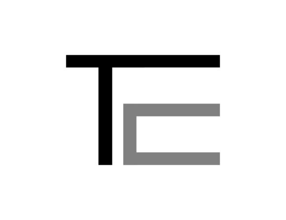 Download Free Initial Letter Te Design Logo Graphic By Meisuseno Creative for Cricut Explore, Silhouette and other cutting machines.