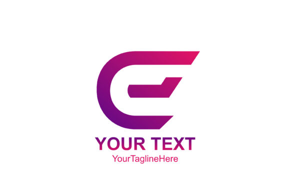 Download Free Initial Letter E Logo Template Colorfull Design For Business And for Cricut Explore, Silhouette and other cutting machines.