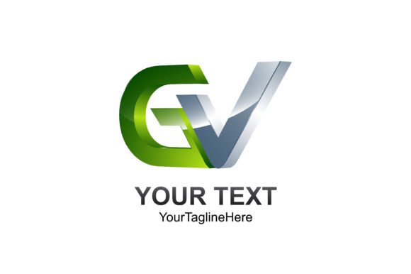 Download Free Initial Letter Gv Logo Template Colored Silver Green Design For for Cricut Explore, Silhouette and other cutting machines.