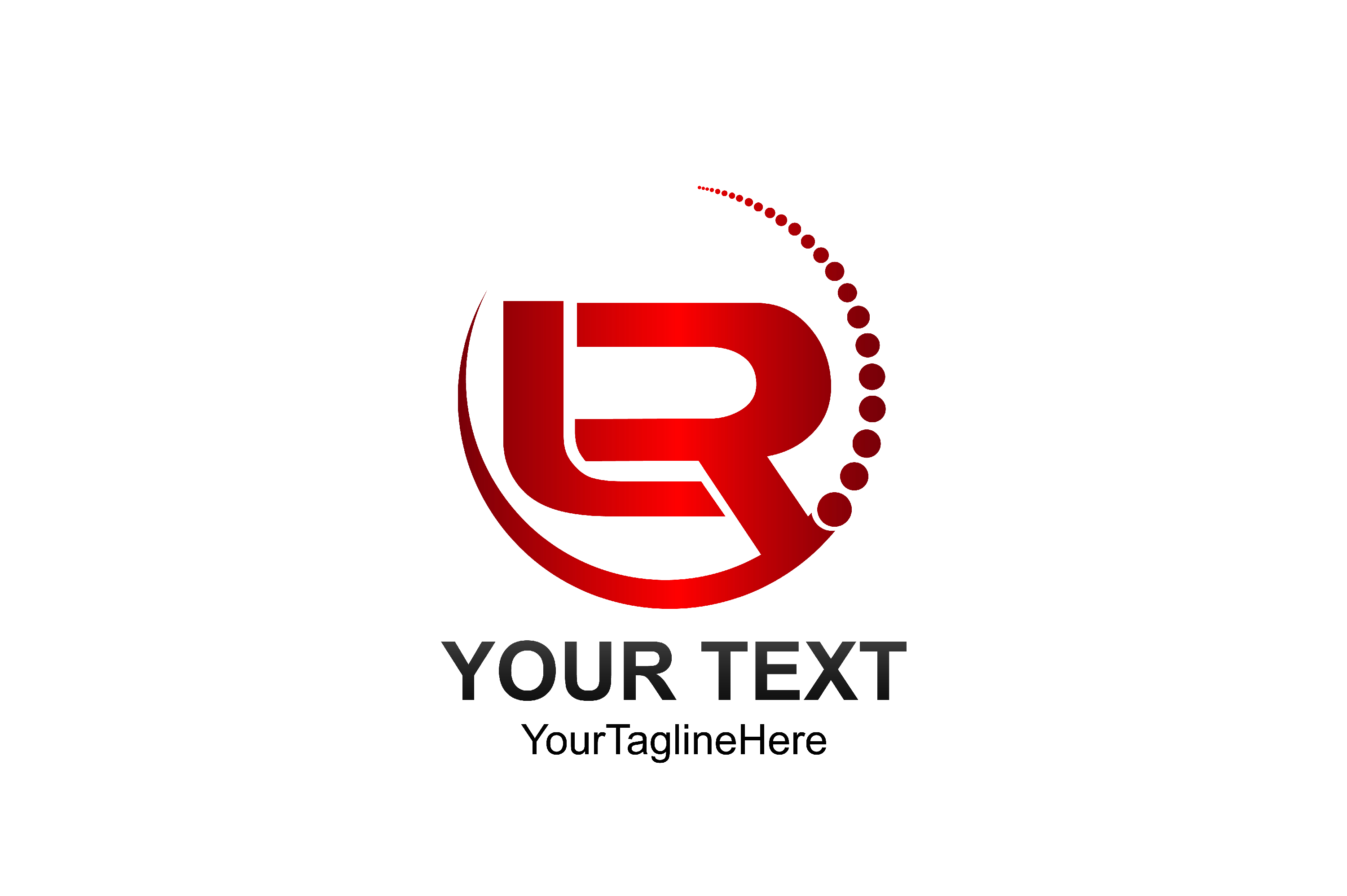 Download Free Initial Letter Lr Logo Template Colored Red Circle Swoosh Design for Cricut Explore, Silhouette and other cutting machines.