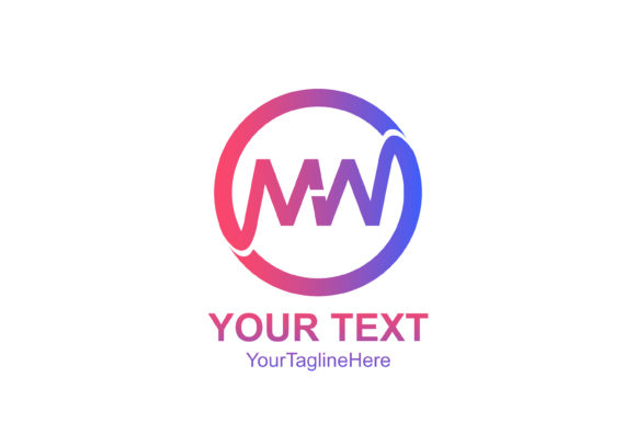 Download Free Initial Letter Mw Logo Template Colorfull Circle Design For for Cricut Explore, Silhouette and other cutting machines.