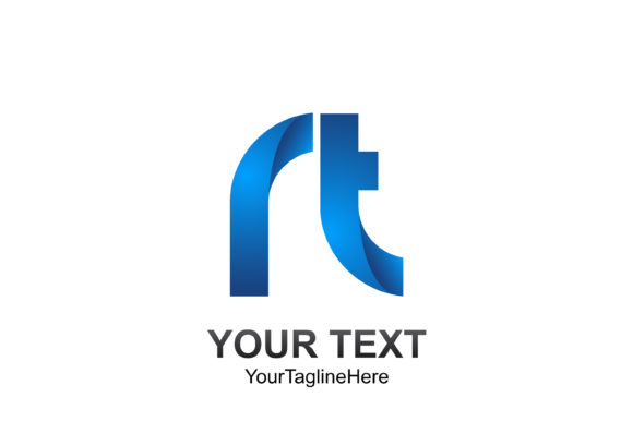 Download Free Initial Letter Rt Logo Template Colored Blue Design For Business for Cricut Explore, Silhouette and other cutting machines.