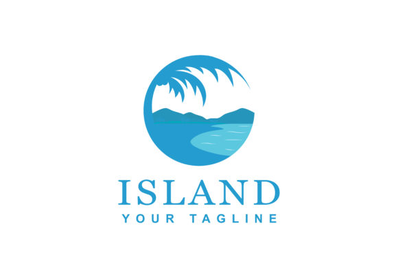Download Free Island Logo Graphic By Sabavector Creative Fabrica for Cricut Explore, Silhouette and other cutting machines.