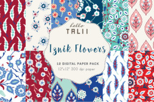 Iznik Flowers Patterns Graphic Patterns By Hello Talii