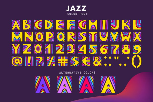 Print on Demand: Jazz Color Fonts Font By struvictory - Image 3