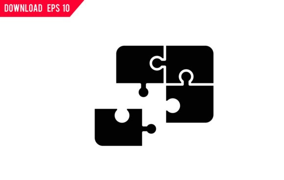 Print on Demand: Jigsaw Puzzle Icon Graphic Icons By back1design1