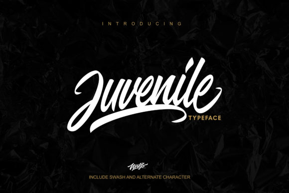 Print on Demand: Juvenile Script & Handwritten Font By Andrie Nugrie