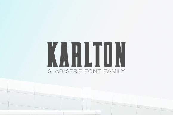 Print on Demand: Karlton Family Slab Serif Font By Creative Tacos
