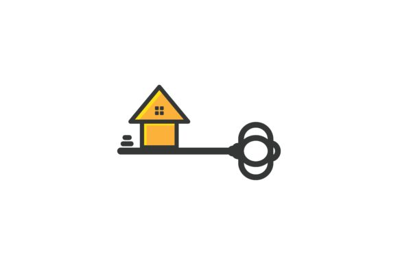 Download Free Key And House Rental Housing Logo Graphic By Yahyaanasatokillah for Cricut Explore, Silhouette and other cutting machines.