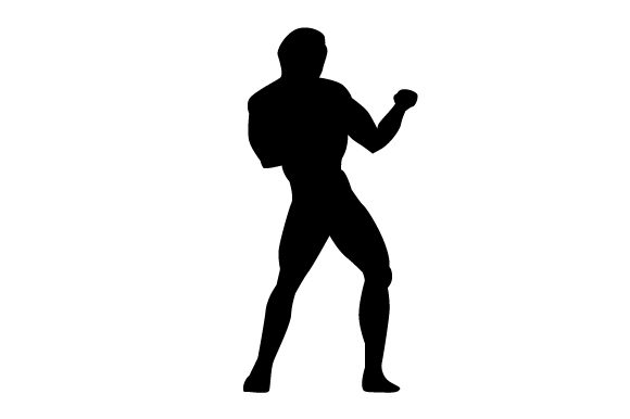 Download Free Kickboxing Man Silhouette Svg Cut File By Creative Fabrica SVG Cut Files