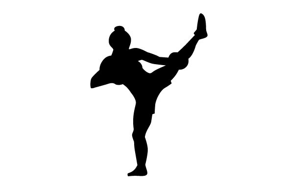 Download Free Kickboxing Woman Silhouette Svg Plotterdatei Von Creative for Cricut Explore, Silhouette and other cutting machines.