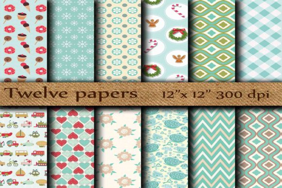Kids Digital Papers Graphic Backgrounds By twelvepapers