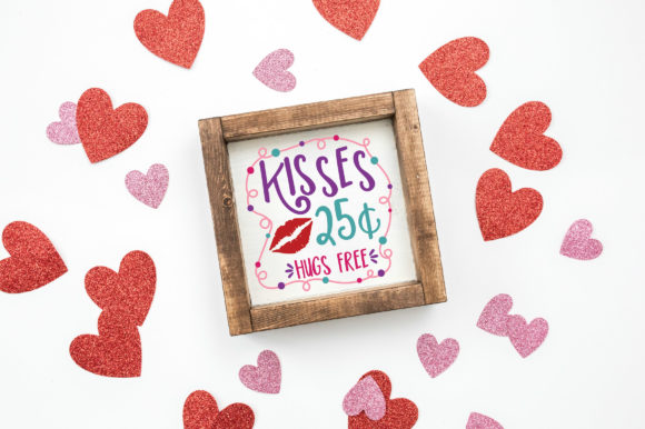 Download Free Kisses 25 Cents Hugs Free Svg Cut File Graphic By SVG Cut Files