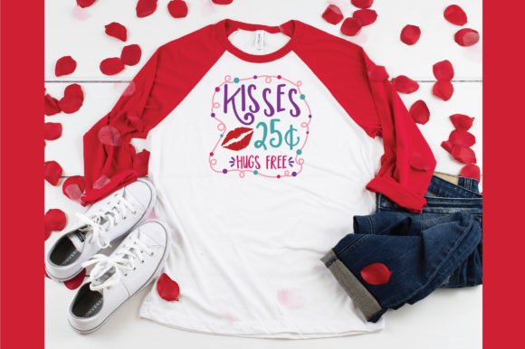 Download Free Kisses 25 Cents Hugs Free Svg Cut File Graphic By for Cricut Explore, Silhouette and other cutting machines.