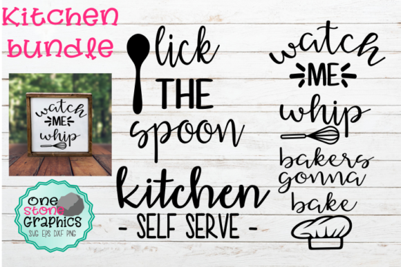 Kitchen Sign Svg Bundle Graphic Crafts By OneStoneGraphics