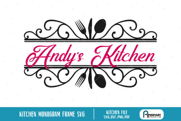 Kitchen Split Monogram  Graphic Crafts By Pinoyartkreatib