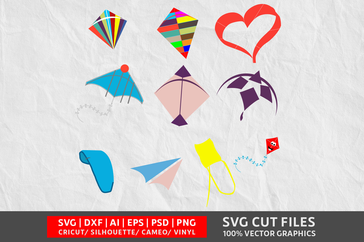 Download Free Kite Graphic By Design Palace Creative Fabrica for Cricut Explore, Silhouette and other cutting machines.