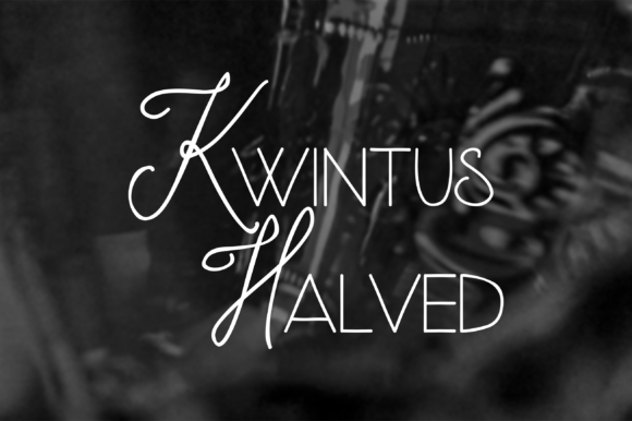 Print on Demand: Kwintus Halved Script & Handwritten Font By sabanovicid
