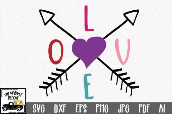 Download Free Love With Arrows Svg Cut File Valentine Svg Graphic By for Cricut Explore, Silhouette and other cutting machines.