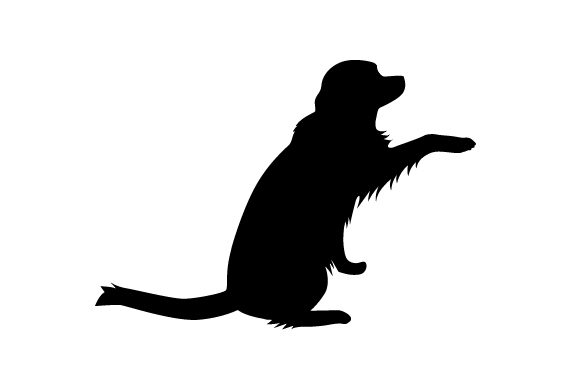 Download Free Labrador Silhouette Giving His Paw Svg Cut File By Creative for Cricut Explore, Silhouette and other cutting machines.