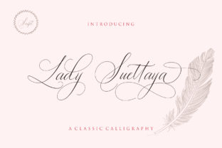 Lady Suettaya Font By Sulthan Studio