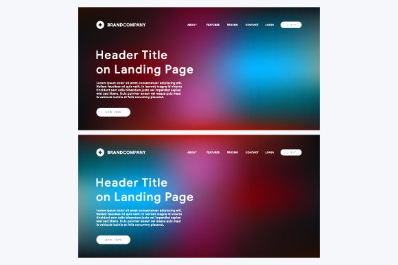 Landing Page Vector Template Graphic By MrBrahmana