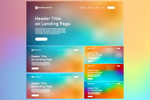 Landing Page with Gradient Mesh Background Graphic Websites By MrBrahmana