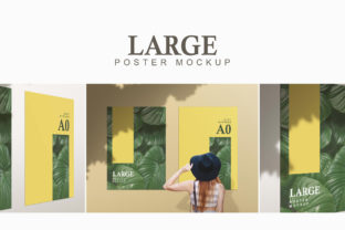 Download Free Large Poster Mockup Graphic By Portfolians Creative Fabrica for Cricut Explore, Silhouette and other cutting machines.