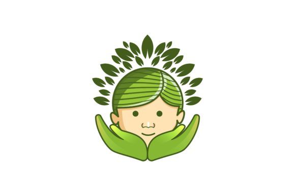 Download Free Leaf Tree Child Hand Care Logo Designs Graphic By for Cricut Explore, Silhouette and other cutting machines.