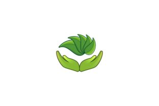 Download Free Leaf Hand Care Logo Designs Graphic By Yahyaanasatokillah for Cricut Explore, Silhouette and other cutting machines.