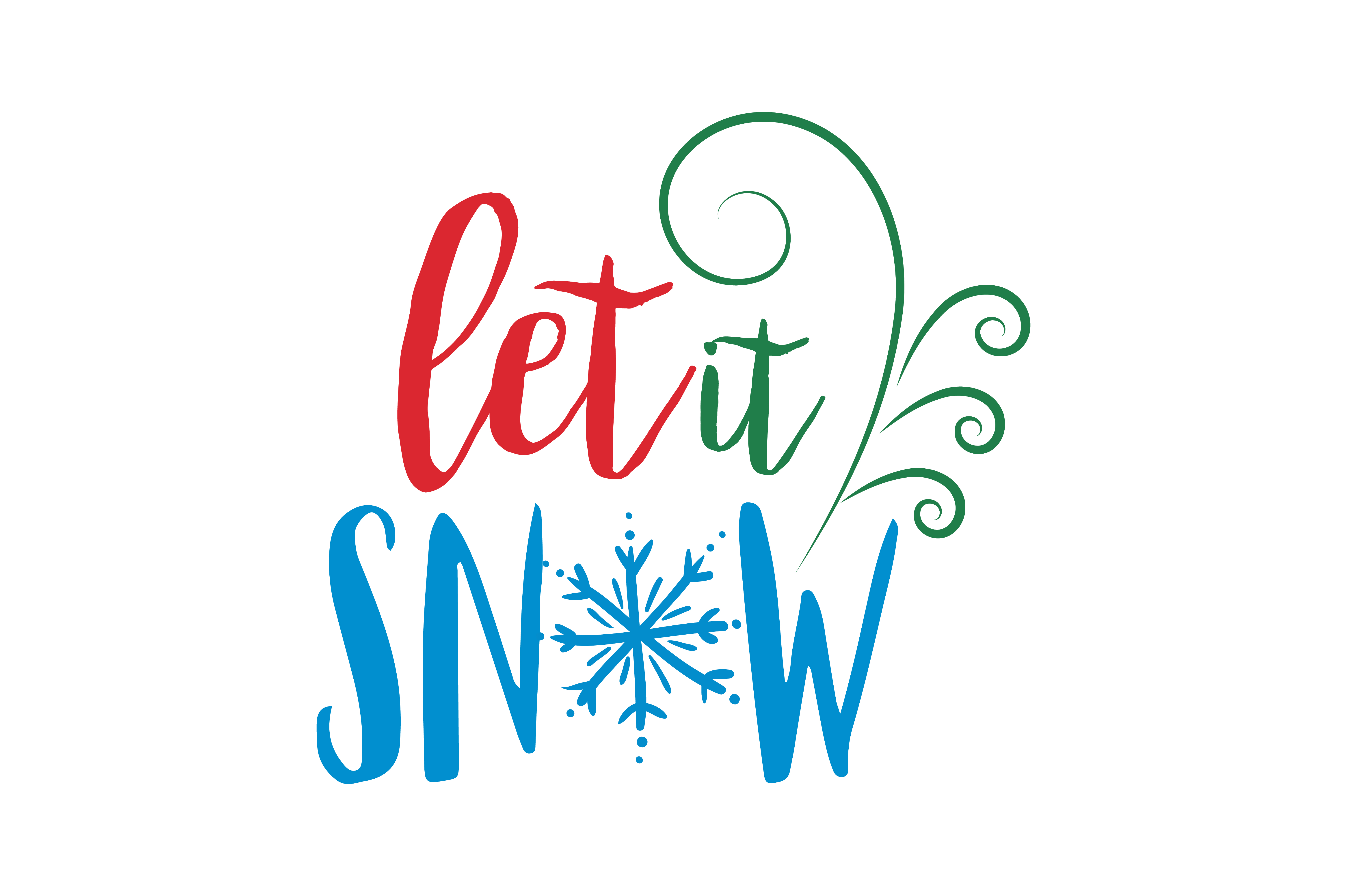 Download Free Let It Snow Svg Cut Graphic By Thelucky Creative Fabrica for Cricut Explore, Silhouette and other cutting machines.