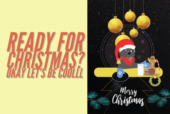 Let's Be Cool and Party - Merry Christmas Cookie Graphic Graphic Templates By NinaGrateful