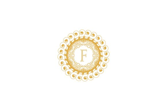 Download Free Letter F Initial Wedding Boutique Luxury Logo Graphic By for Cricut Explore, Silhouette and other cutting machines.