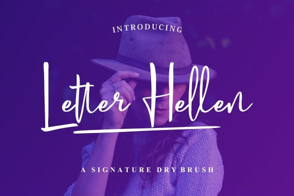 Print on Demand: Letter Hellen Script & Handwritten Font By Garisman Studio