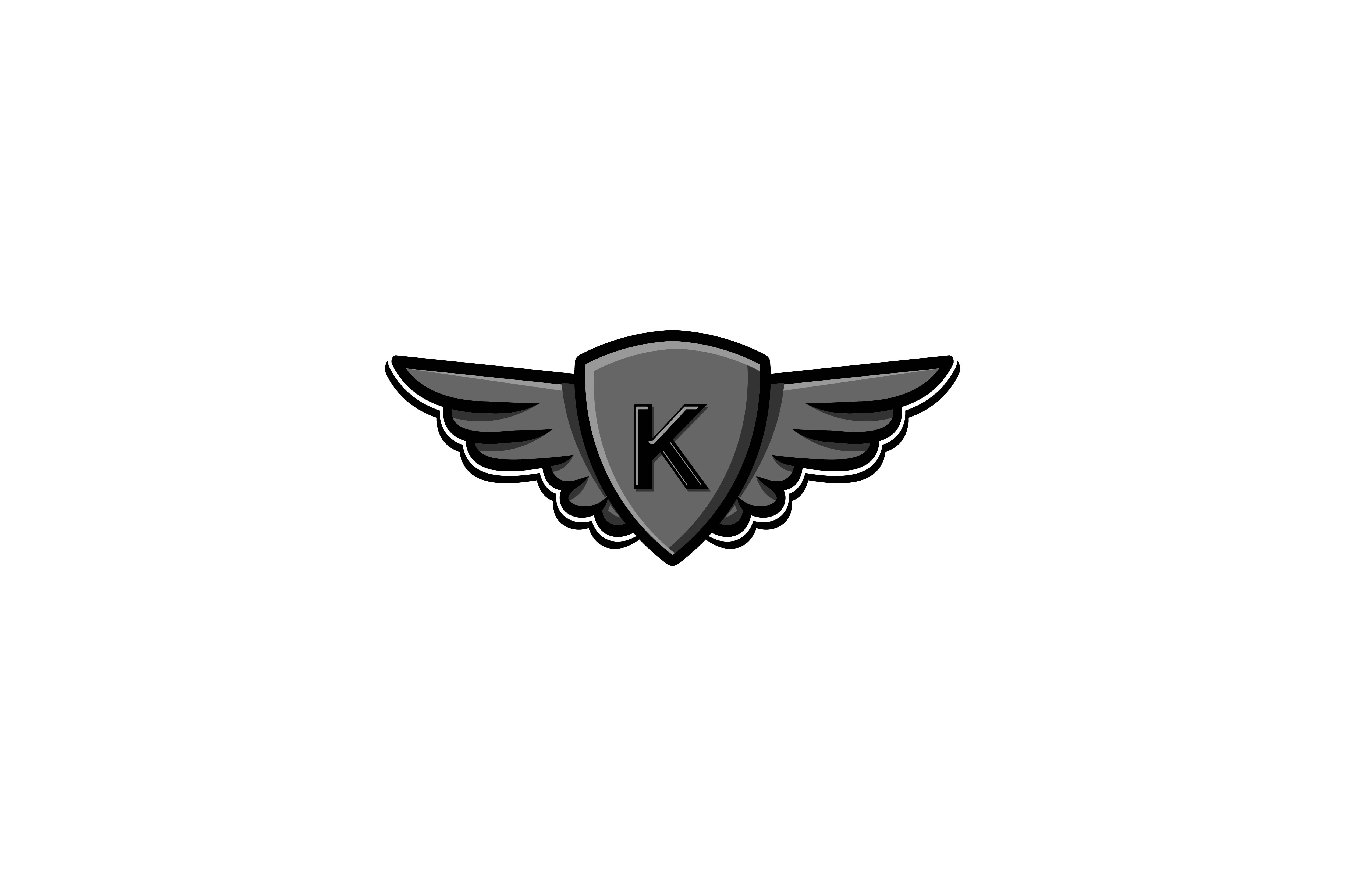 Download Free Letter K Wing And Shield Protection Motorcycle Logo Graphic By for Cricut Explore, Silhouette and other cutting machines.