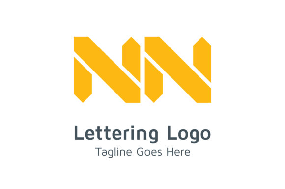 Lettering NN Logo Graphic By Acongraphic