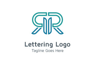 Lettering RR Logo Graphic By Acongraphic