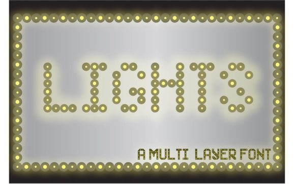 Print on Demand: Lights Decorative Font By lf_designs
