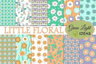 Little Floral Digital Papers Graphic By GreenLightIdeas