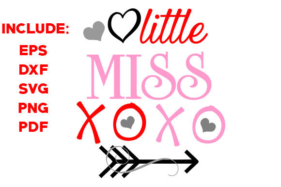 Download Free Little Miss Xoxo Graphic By Goldenflower Creative Fabrica for Cricut Explore, Silhouette and other cutting machines.