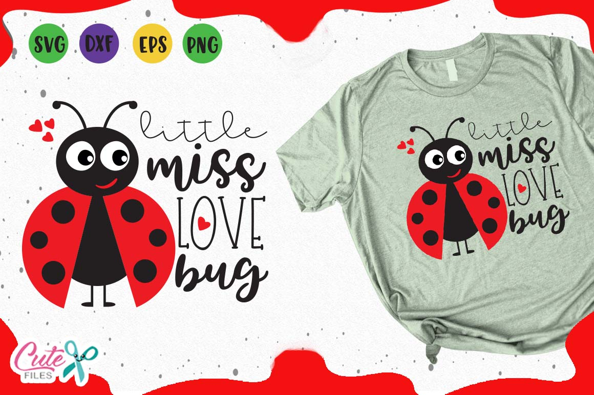 Download Free Little Miss Love Bug Svg Graphic By Cute Files Creative Fabrica for Cricut Explore, Silhouette and other cutting machines.